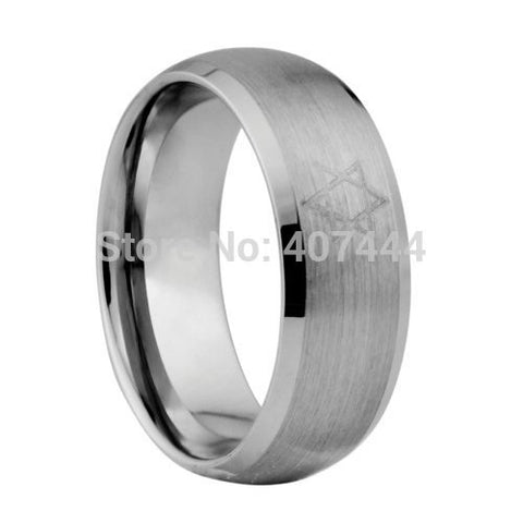 Men's Ring, Star of David Engraved in Tungsten