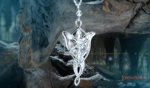 The Lord of the Rings Princess Arwen's Evenstar Pendant Necklace, .925 Sterling