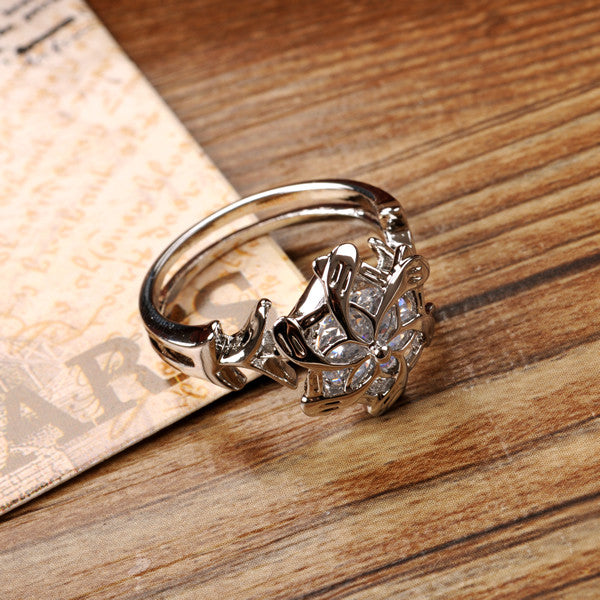 Lord of the Rings Nenya, Galadriel's Water Ring in .925 Sterling Silver