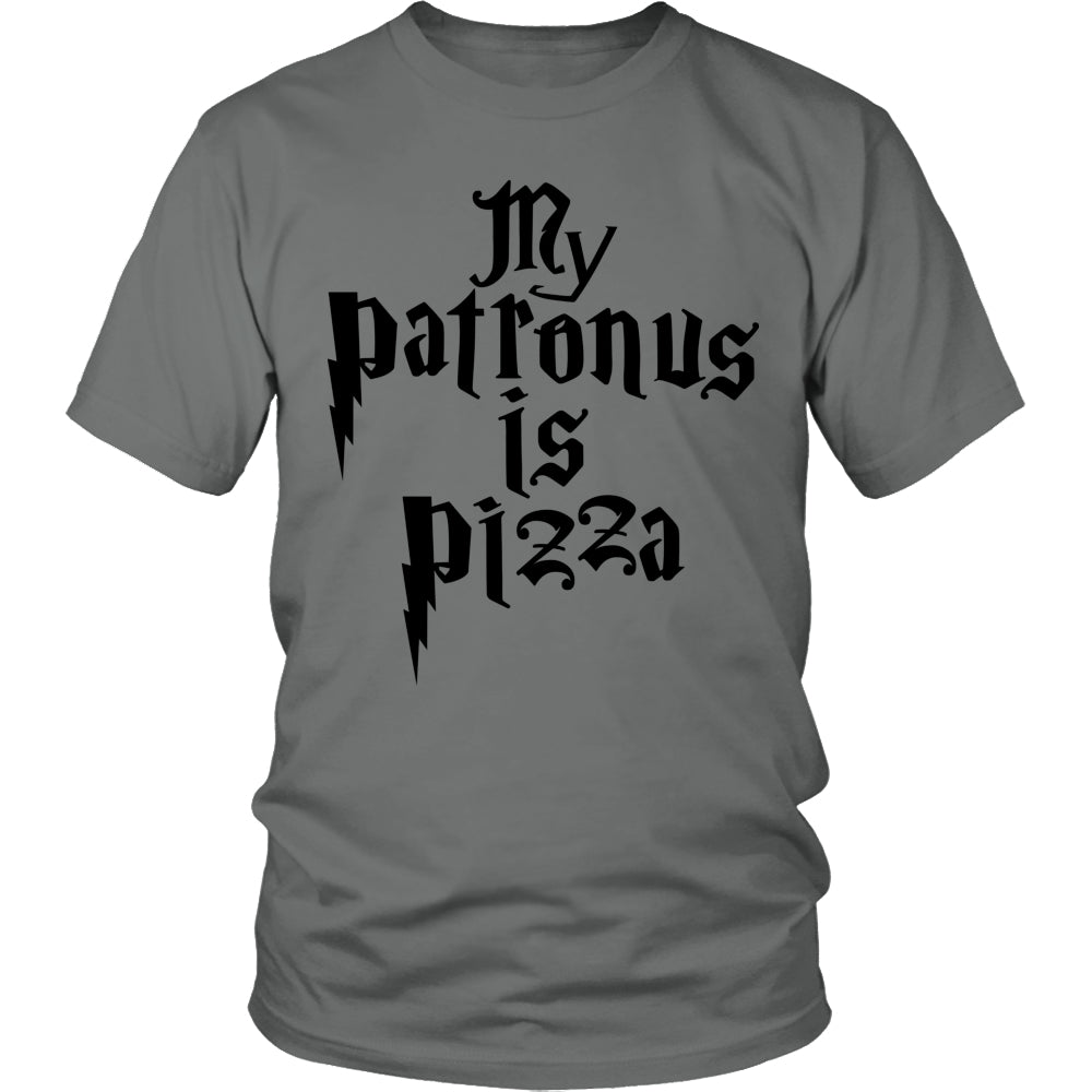 Limited Edition Harry Potter T-shirt Hoodie -  My Patronus Is A Pizza - Unisex Shirt / Grey / S - My Revolutional Shop - 1