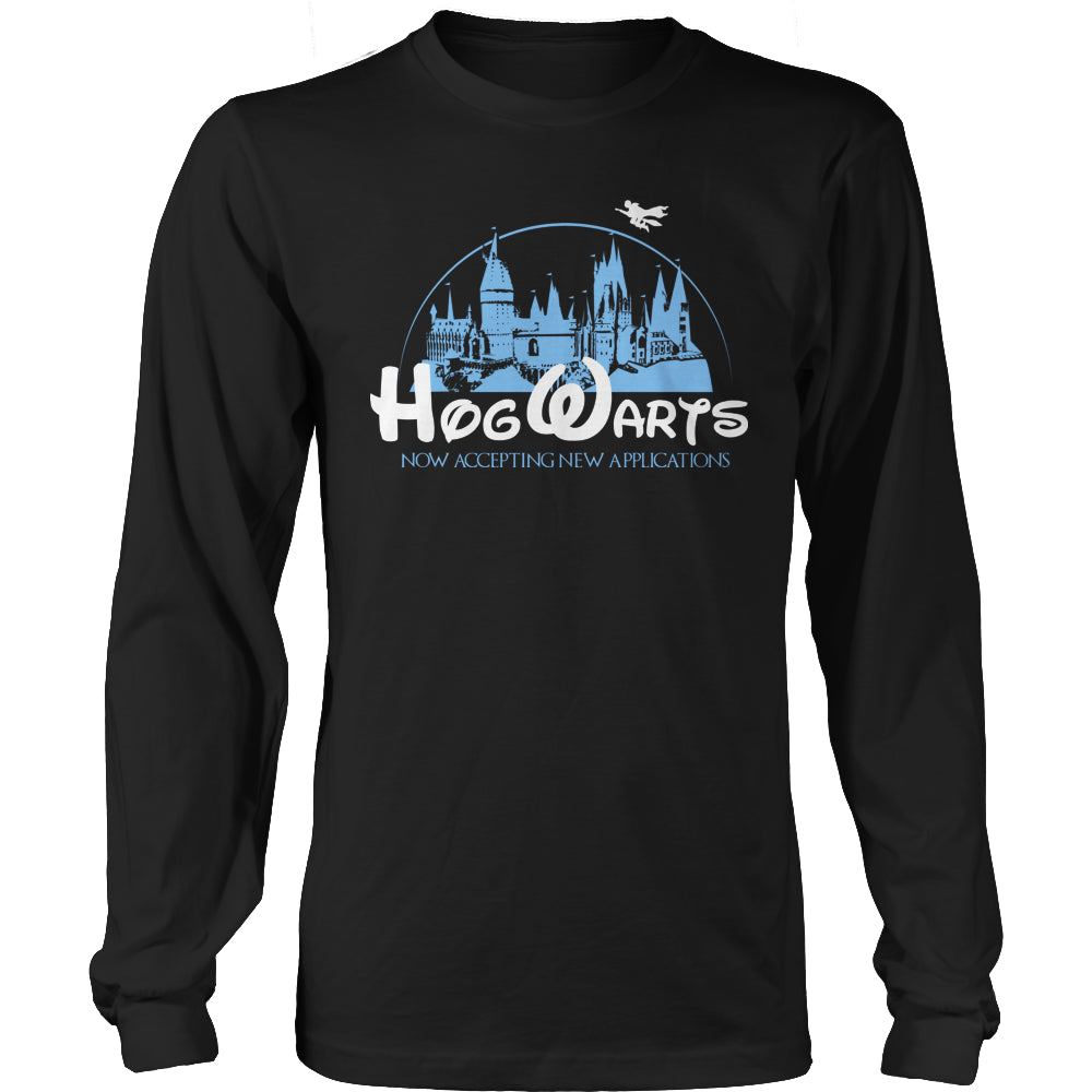 Limited Edition Harry Potter T-shirt Hoodie Tank Top - Hogwarts Now Accepting Applications - Long Sleeve / Black / S - My Revolutional Shop - 1