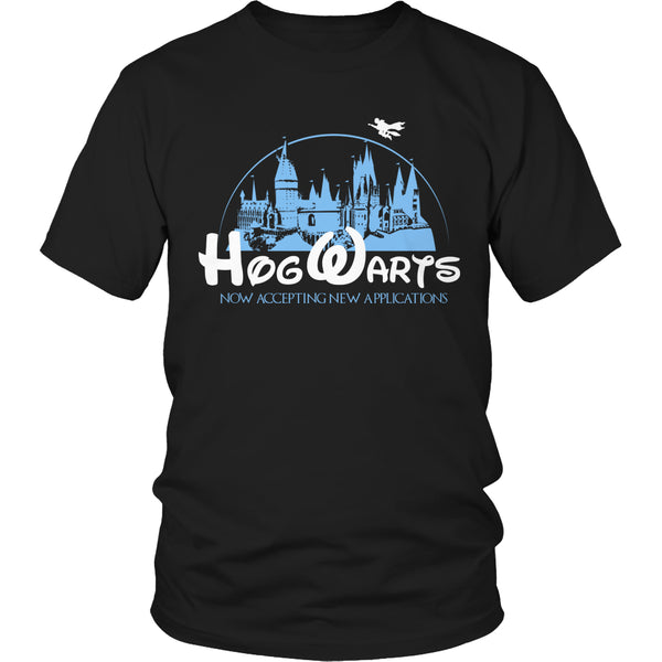 Limited Edition Harry Potter T-shirt Hoodie Tank Top - Hogwarts Now Accepting Applications - Unisex Shirt / Black / S - My Revolutional Shop - 2