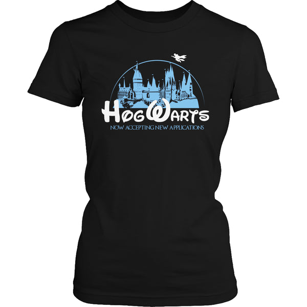 Limited Edition Harry Potter T-shirt Hoodie Tank Top - Hogwarts Now Accepting Applications - Womens Shirt / Black / S - My Revolutional Shop - 3