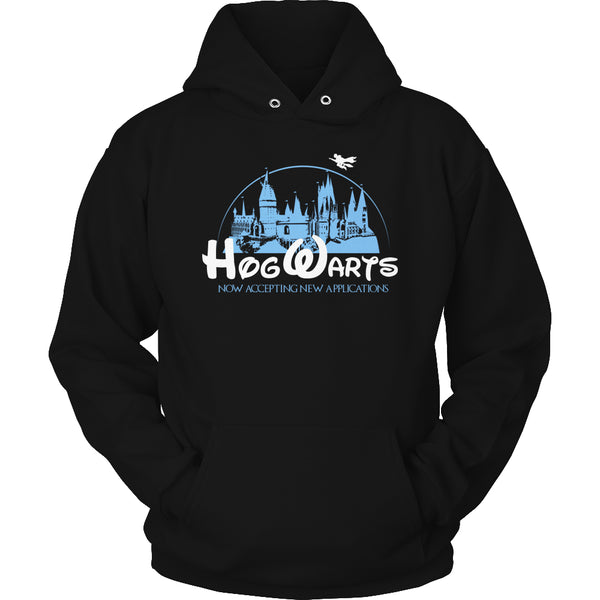 Limited Edition Harry Potter T-shirt Hoodie Tank Top - Hogwarts Now Accepting Applications - Hoodie / Black / S - My Revolutional Shop - 4