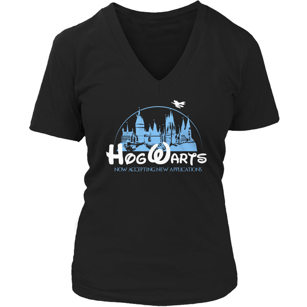 Limited Edition Harry Potter T-shirt Hoodie Tank Top - Hogwarts Now Accepting Applications - Womens V-Neck / Black / S - My Revolutional Shop - 5