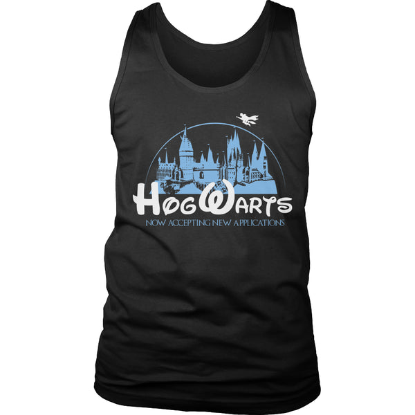 Limited Edition Harry Potter T-shirt Hoodie Tank Top - Hogwarts Now Accepting Applications - Mens Tank Top / Black / S - My Revolutional Shop - 6