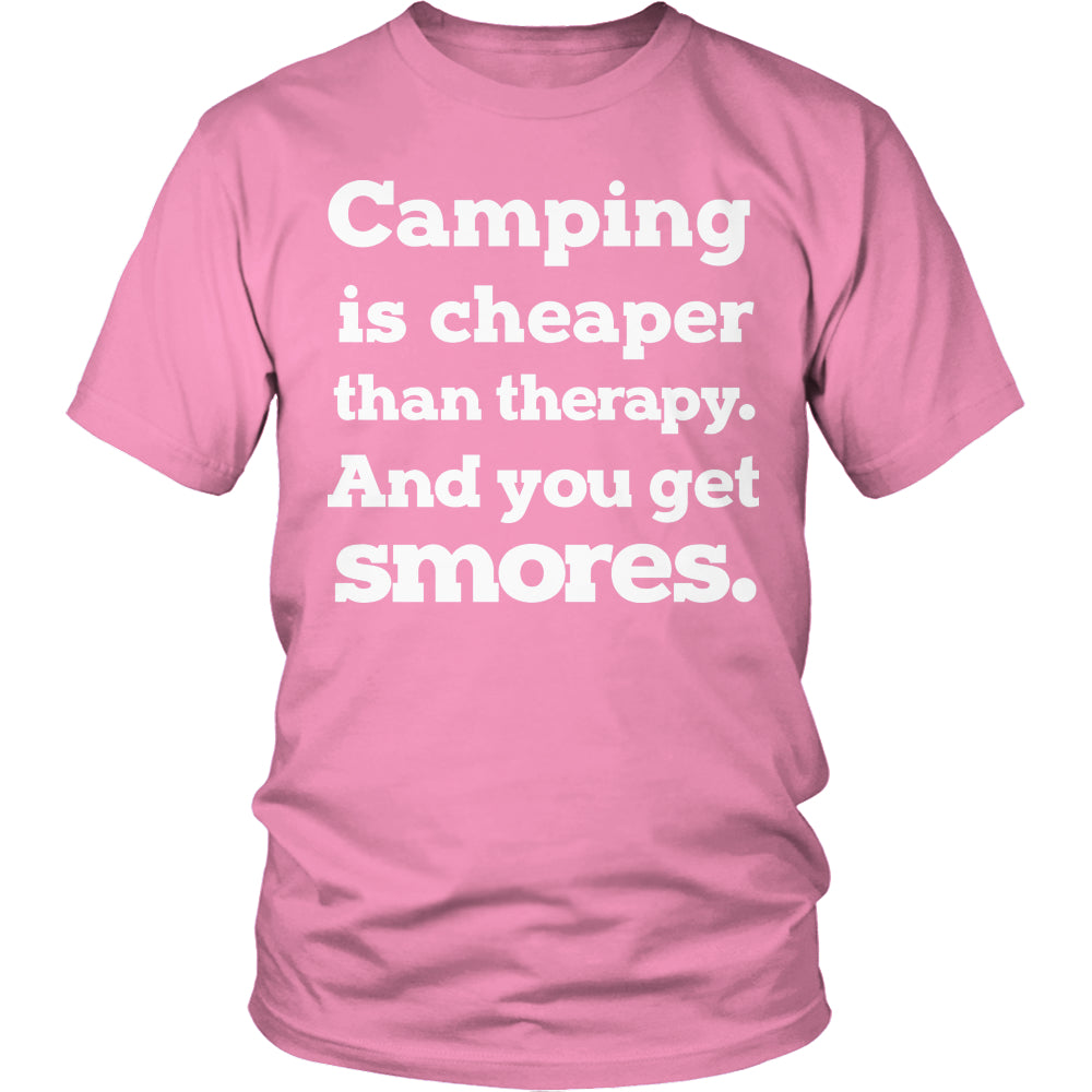 Tees & Sweats - Limited Edition T-shirt Hoodie - Camping Is Cheaper Than Therapy