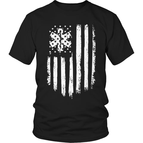 Limited Edition T-shirt Hoodie - EMT Flag - Unisex Shirt / Black / S - My Revolutional Shop - 1