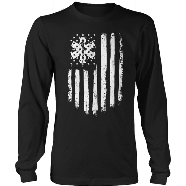 Limited Edition T-shirt Hoodie - EMT Flag - Long Sleeve / Black / S - My Revolutional Shop - 3