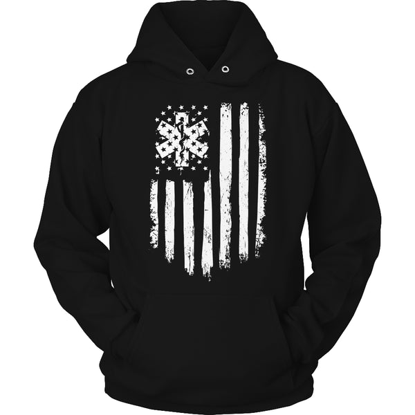 Limited Edition T-shirt Hoodie - EMT Flag - Hoodie / Black / S - My Revolutional Shop - 4