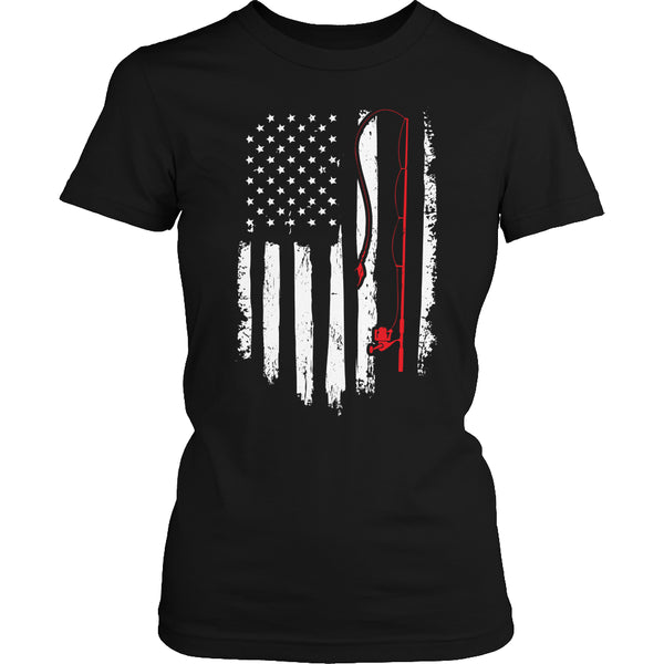 Limited Edition T-shirt Hoodie - Fishing Flag - Womens Shirt / Black / S - My Revolutional Shop - 2
