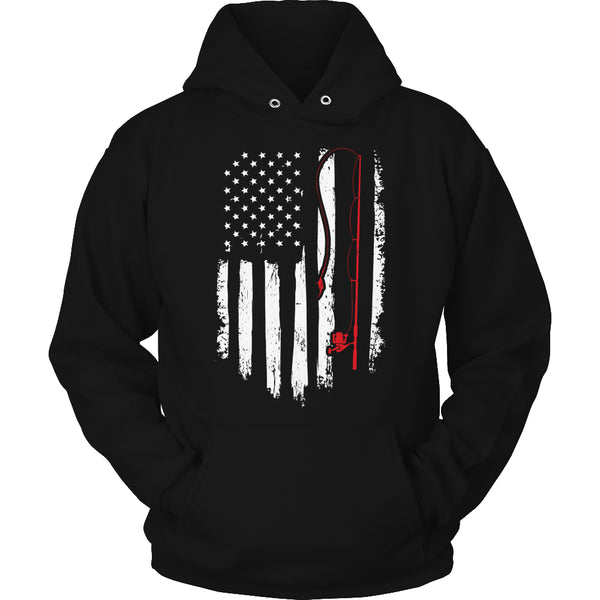 Limited Edition T-shirt Hoodie - Fishing Flag - Hoodie / Black / S - My Revolutional Shop - 4