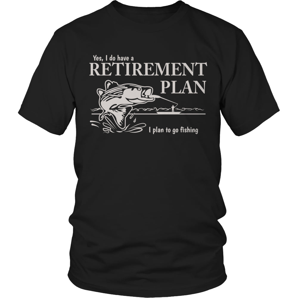 Tees & Sweats - Limited Edition T-shirt Hoodie - Fishing Retirement Plan