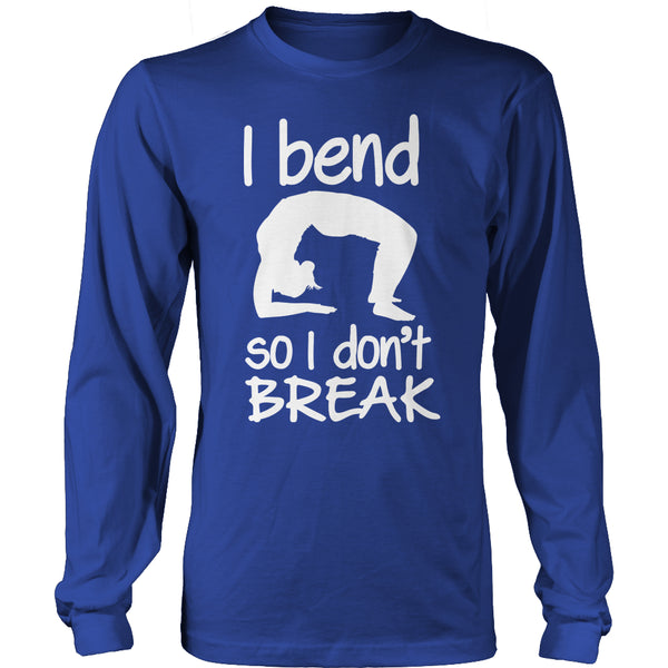 Limited Edition T-shirt Hoodie - I Bend So I Don't Break (Yoga Shirt) - Long Sleeve / Royal Blue / S - My Revolutional Shop - 11