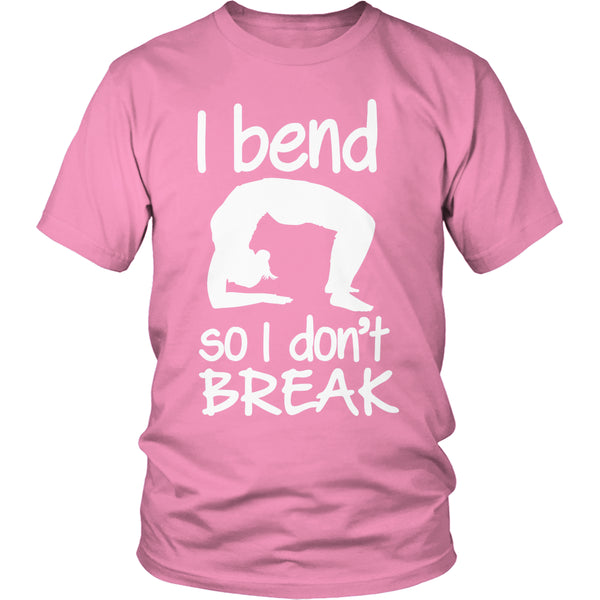 Limited Edition T-shirt Hoodie - I Bend So I Don't Break (Yoga Shirt) - Unisex Shirt / Pink / S - My Revolutional Shop - 4