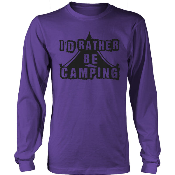 Limited Edition T-shirt Hoodie - I'd Rather Be Camping - Long Sleeve / Purple / S - My Revolutional Shop - 13