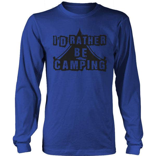 Limited Edition T-shirt Hoodie - I'd Rather Be Camping - Long Sleeve / Royal Blue / S - My Revolutional Shop - 14