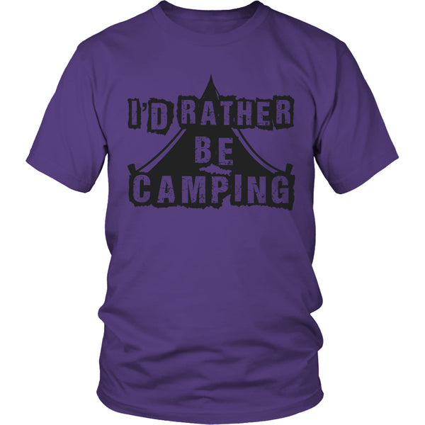 Limited Edition T-shirt Hoodie - I'd Rather Be Camping - Unisex Shirt / Purple / S - My Revolutional Shop - 2