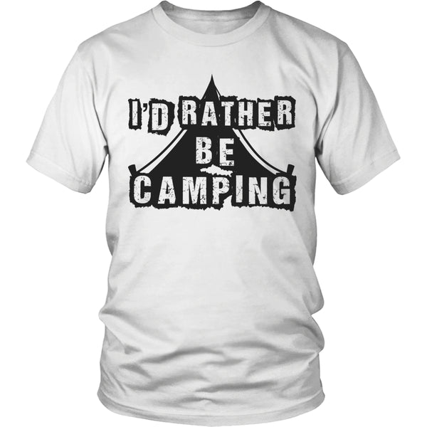 Limited Edition T-shirt Hoodie - I'd Rather Be Camping - Unisex Shirt / White / S - My Revolutional Shop - 4