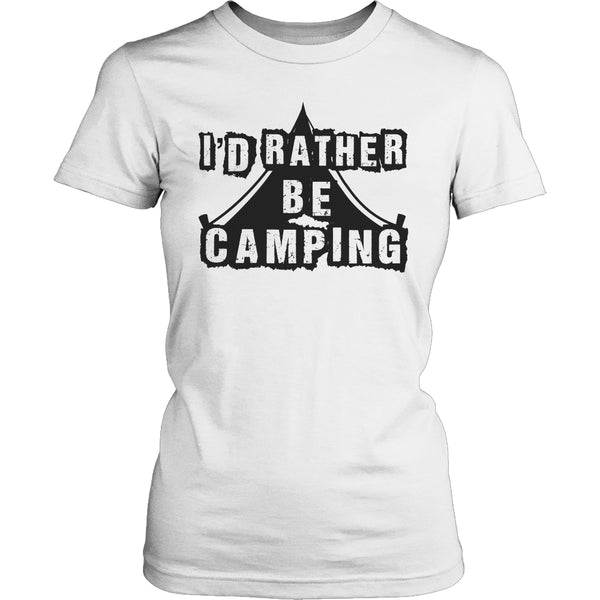 Limited Edition T-shirt Hoodie - I'd Rather Be Camping - Womens Shirt / White / S - My Revolutional Shop - 8