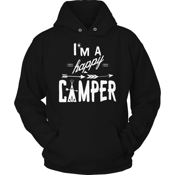 Limited Edition T-shirt Hoodie - I'm A Happy Camper - Hoodie / Black / S - My Revolutional Shop - 9