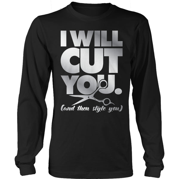 Limited Edition T-shirt Hoodie - I Will Cut You - Long Sleeve / Black / S - My Revolutional Shop - 3