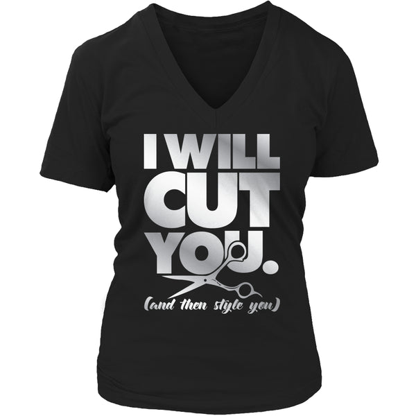 Limited Edition T-shirt Hoodie - I Will Cut You - Womens V-Neck / Black / S - My Revolutional Shop - 5