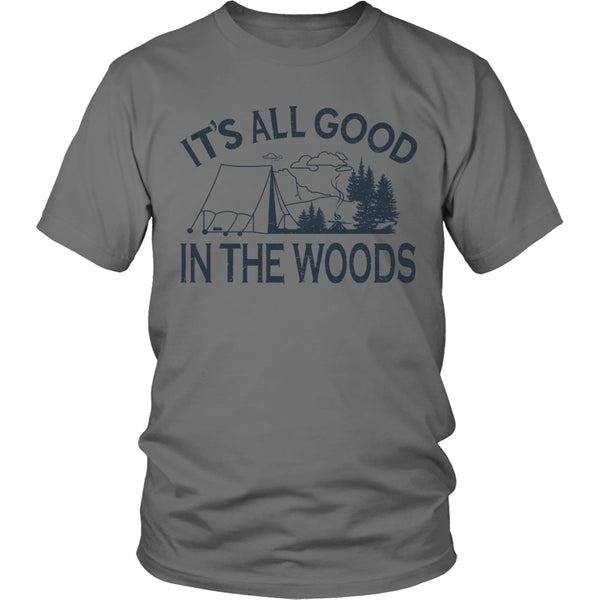 Limited Edition T-shirt Hoodie - Its All Good In The Woods - Unisex Shirt / Grey / S - My Revolutional Shop - 1