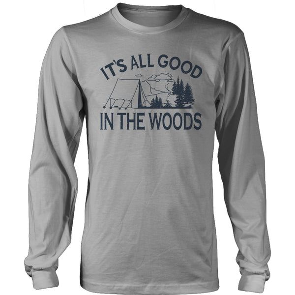 Limited Edition T-shirt Hoodie - Its All Good In The Woods - Long Sleeve / Grey / S - My Revolutional Shop - 4