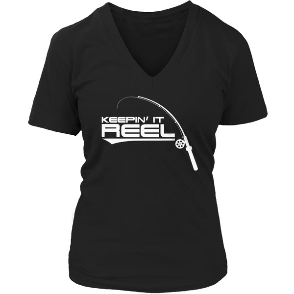 Limited Edition T-shirt Hoodie - Keepin It Reel - Womens V-Neck / Black / S - My Revolutional Shop - 5