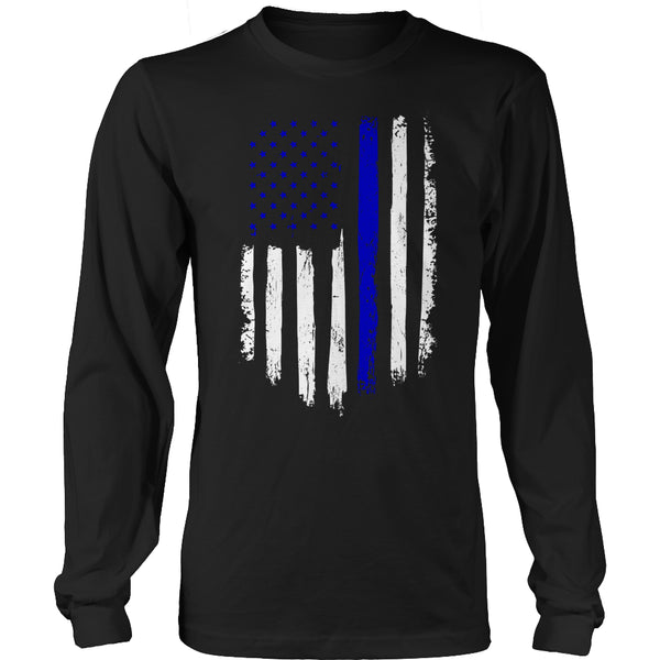 Limited Edition T-shirt Hoodie - Navy Flag - Long Sleeve / Black / S - My Revolutional Shop - 3