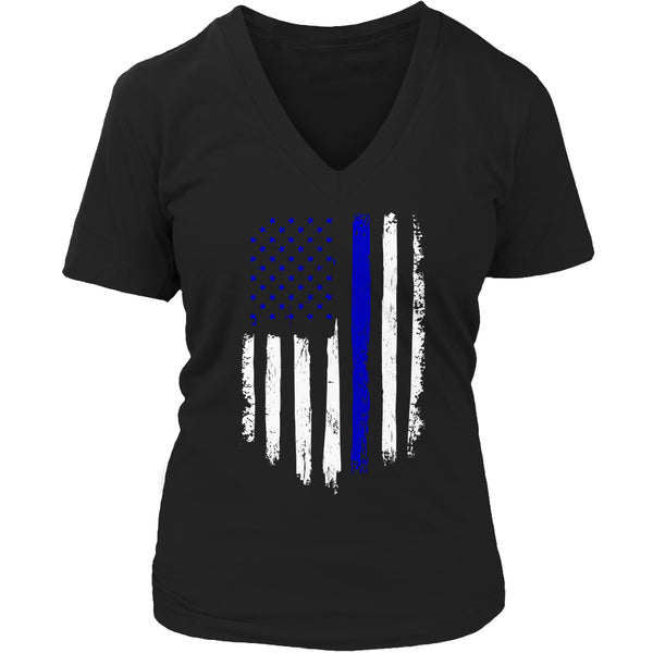 Limited Edition T-shirt Hoodie - Navy Flag - Womens V-Neck / Black / S - My Revolutional Shop - 5