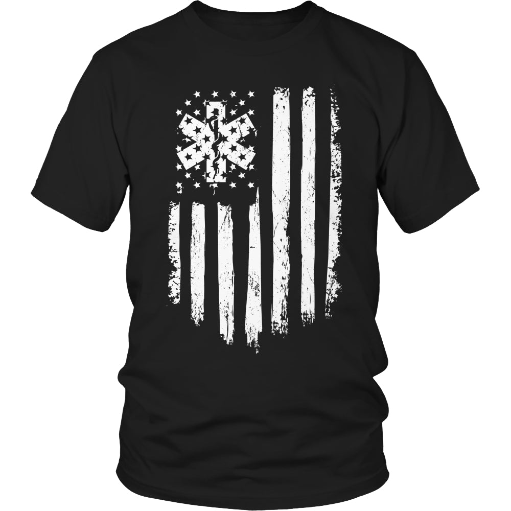 Limited Edition T-shirt Hoodie Tank Top - EMT Flag - Unisex Shirt / Black / S - My Revolutional Shop - 1