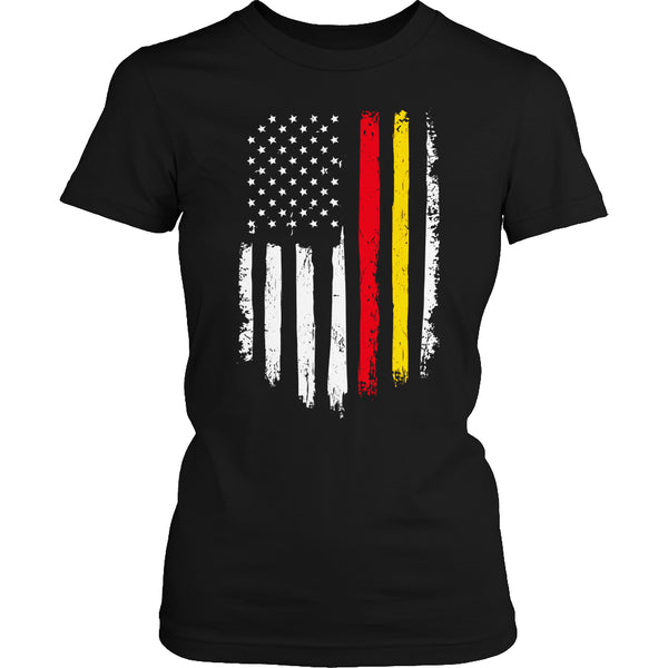 Limited Edition T-shirt Hoodie Tank Top - Marine Flag - Womens Shirt / Black / S - My Revolutional Shop - 2
