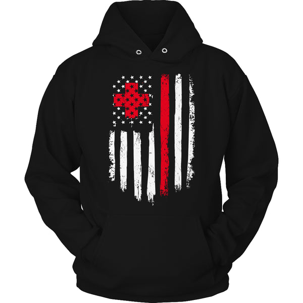 Limited Edition T-shirt Hoodie Tank Top - Nurse Flag - Hoodie / Black / S - My Revolutional Shop - 4