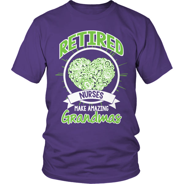 Limited Edition T-shirt Hoodie Tank Top - Retired Nurses make amazing Grandmas - Unisex Shirt / Purple / S - My Revolutional Shop - 2
