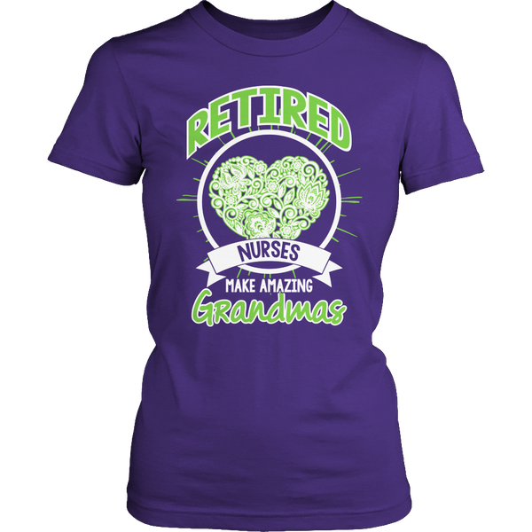 Limited Edition T-shirt Hoodie Tank Top - Retired Nurses make amazing Grandmas - Womens Shirt / Purple / S - My Revolutional Shop - 4
