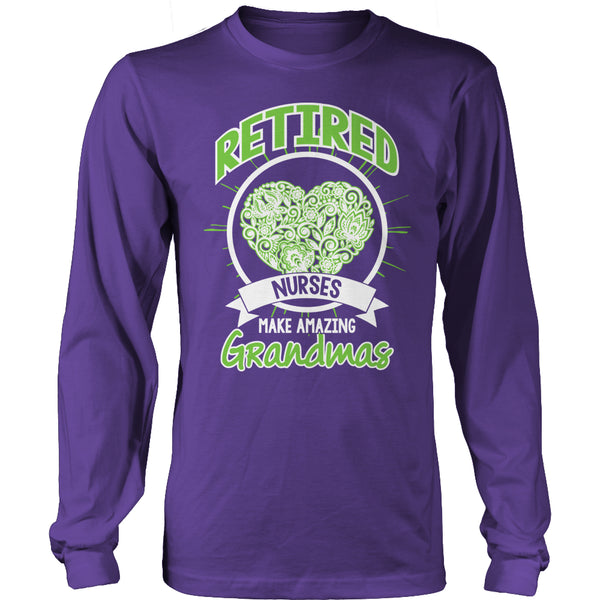 Limited Edition T-shirt Hoodie Tank Top - Retired Nurses make amazing Grandmas - Long Sleeve / Purple / S - My Revolutional Shop - 6