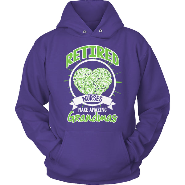 Limited Edition T-shirt Hoodie Tank Top - Retired Nurses make amazing Grandmas - Hoodie / Purple / S - My Revolutional Shop - 8