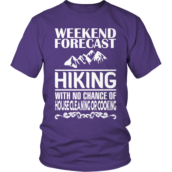 Limited Edition T-shirt Hoodie - Weekend Forecast Hiking - Unisex Shirt / Purple / S - My Revolutional Shop - 2