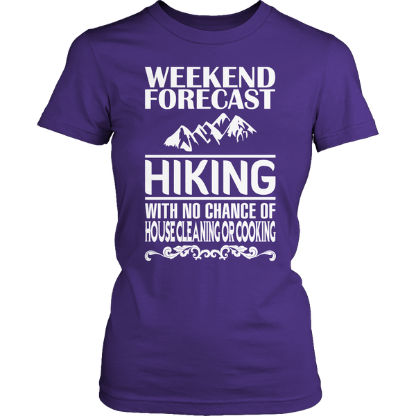 Limited Edition T-shirt Hoodie - Weekend Forecast Hiking - Womens Shirt / Purple / S - My Revolutional Shop - 3