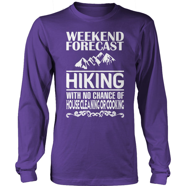 Limited Edition T-shirt Hoodie - Weekend Forecast Hiking - Long Sleeve / Purple / S - My Revolutional Shop - 6