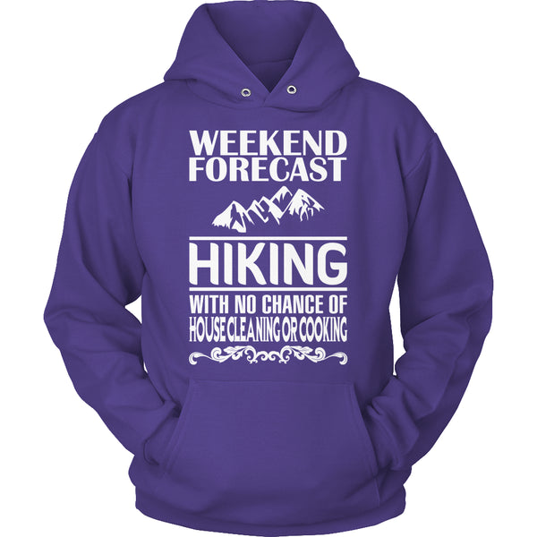 Limited Edition T-shirt Hoodie - Weekend Forecast Hiking - Hoodie / Purple / S - My Revolutional Shop - 8