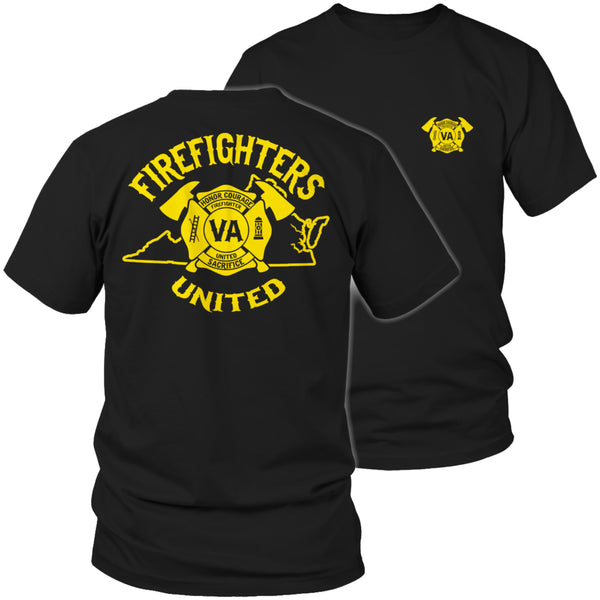 Limited Edition T-shirt Hoodie  - 'Your State' Firefighters United - Unisex Shirt / Black / S - My Revolutional Shop - 1