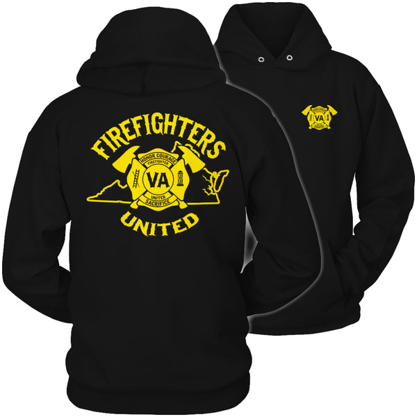 Limited Edition T-shirt Hoodie  - 'Your State' Firefighters United - Hoodie / Black / S - My Revolutional Shop - 4