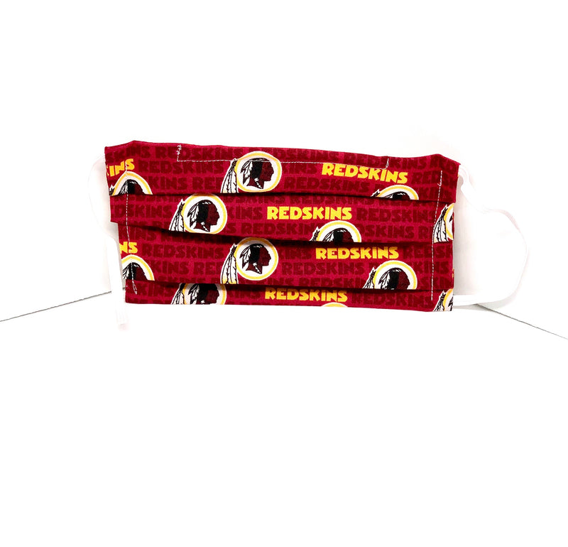 #005 - Redskins Mask with Elastic or Fabric Straps