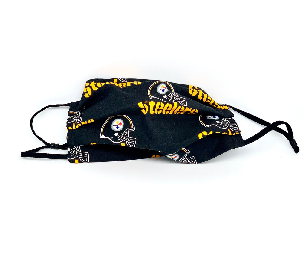 #018 - Pittsburgh Steelers Mask with Adjustable  Straps