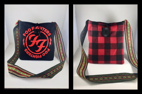#803 - Foo Fighters T-shirt Switch Purse