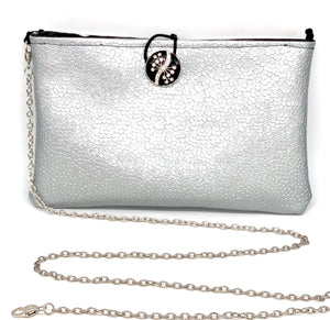 #908 - Silver & Black Dual Clutch/Switch Purse
