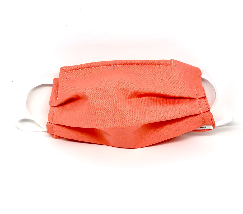 #028 - Solid Salmon Mask with Adjustable Straps